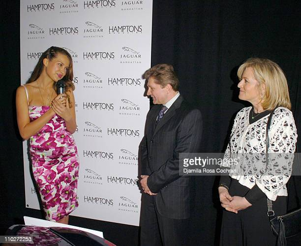 Petra Nemcova Gary Flom President and CEO of Manhattan Automobile Company and Lori Burgess Group Publisher of Niche Media
