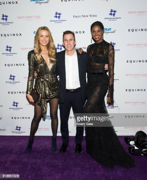 Petra Nemcova Harvey Spevak and Ubah Hassan attend the All Hands and Hearts Smart Response Third Annual Fight For Education gala at Cipriani Wall...