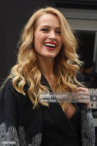 Petra Nemcova is seen arriving at BCBGMAXAZRIA fashion show during Fall 2016 New York Fashion Week at Skylight Moynihan Station on February 11 2016...