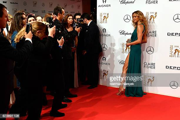 Petra Nemcova is seen in front of the photographers at the red carpet of the Bambi Awards 2016 at Stage Theater on November 17 2016 in Berlin Germany