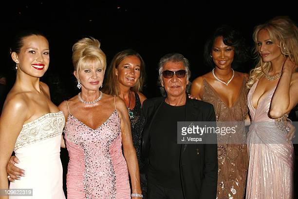 Petra Nemcova Ivana Trump Eva Cavalli Roberto Cavalli Kimora Lee Simmons and Adriana Karembeu
