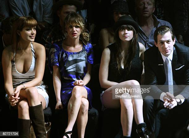 Petra Nemcova Juliette Lewis Daisy Lowe and Mark Ronson attends the Diesel Spring 2009 fashion show during MercedesBenz Fashion Week at The Tent...