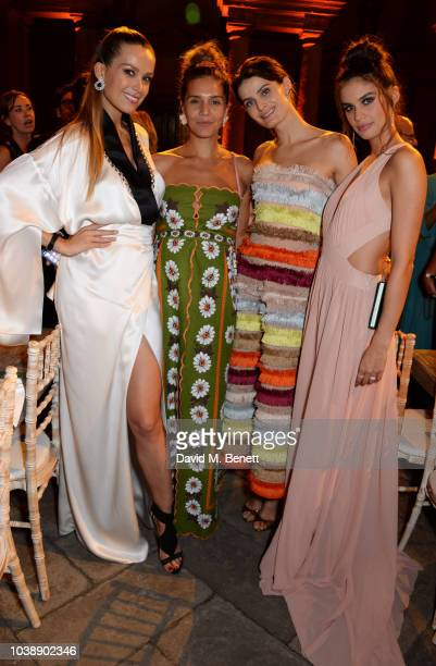Petra Nemcova Margherita Missoni Isabeli Fontana and Sara Sampaio attend The Green Carpet Fashion Awards Italia 2018 after party at Gallerie d'Italia...
