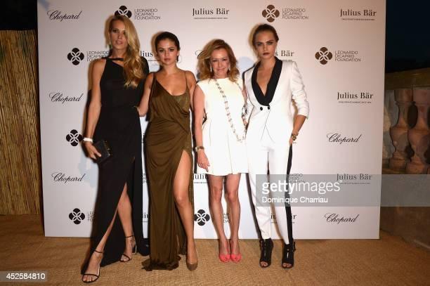 Petra Nemcova Selena Gomez Caroline Scheufele and Cara Delevingne attend the Leonardo Dicaprio Gala at Domaine Bertaud Belieu on July 23 2014 in...