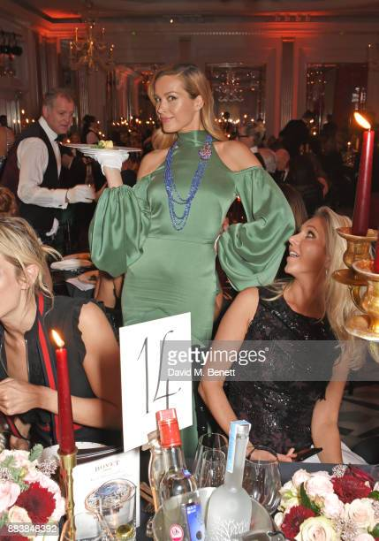 Petra Nemcova serves dinner at the BOVET 1822 Brilliant is Beautiful Gala benefitting Artists for Peace and Justice's Global Education Fund for Women...