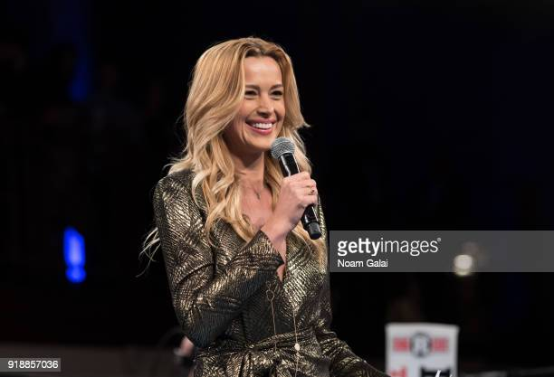 Petra Nemcova speaks at the All Hands and Hearts Smart Response Third Annual Fight For Education gala at Cipriani Wall Street on February 15 2018 in...