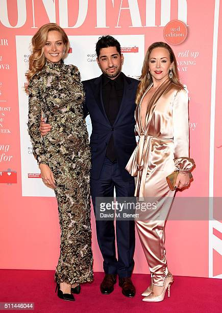 Petra Nemcova Tamara Ralph and Michael Russo at The Naked Heart Foundation's Fabulous Fund Fair in London at Old Billingsgate Market on February 20...