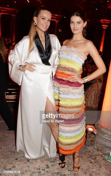 Rosita Missoni and Suzy Menkes attend The Green Carpet Fashion Awards Italia 2018 after party at Gallerie d'Italia on September 23 2018 in Milan Italy