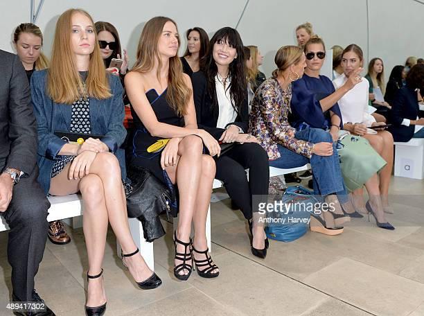 Petra Palumbo Alicia Rountree Daisy Lowe Tiphaine de Lussy Yasmin Le Bon and Amber Le Bon attend the Antonio Berardi show during London Fashion Week...