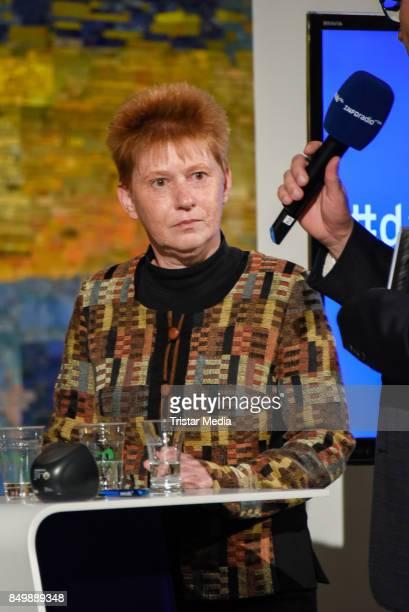 Petra Pau during the live TV program 'Ihre Wahl 6 Frauen für Berlin und Brandenburg' on September 19 2017 in Berlin Germany