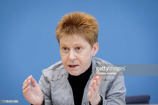 Petra Pau of The Left Party pictured during a press conference on February 20 2019 in Berlin Germany