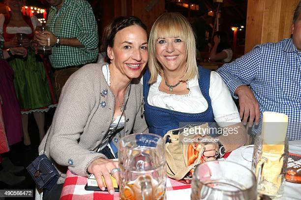 Petra Pfaller and Patricia Riekel attend the 'Bunte Wiesn' during the Oktoberfest 2015 at Schuetzenfestzelt / Theresienwiese on September 29 2015 in...