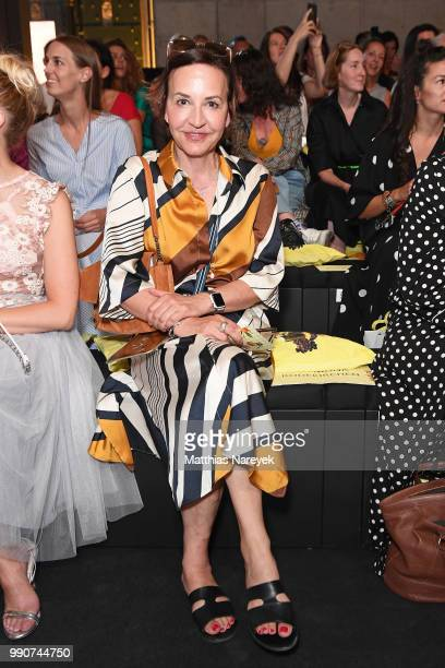 Petra Pfaller attends the Lena Hoschek show during the Berlin Fashion Week Spring/Summer 2019 at ewerk on July 3 2018 in Berlin Germany