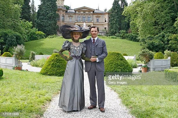 Petra SchmidtSchaller and Felix Klare attend the photocall of 'Der Clan Die Geschichte der Familie Wagner' on June 21 2013 in Gmunden Austria