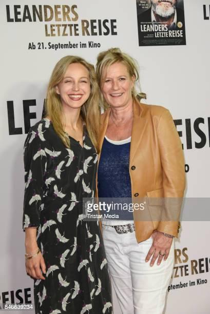 Petra SchmidtSchaller and Suzanne von Borsody attend the 'Leanders Letzte Reise' Premiere at Kino in der Kulturbrauerei on September 13 2017 in...