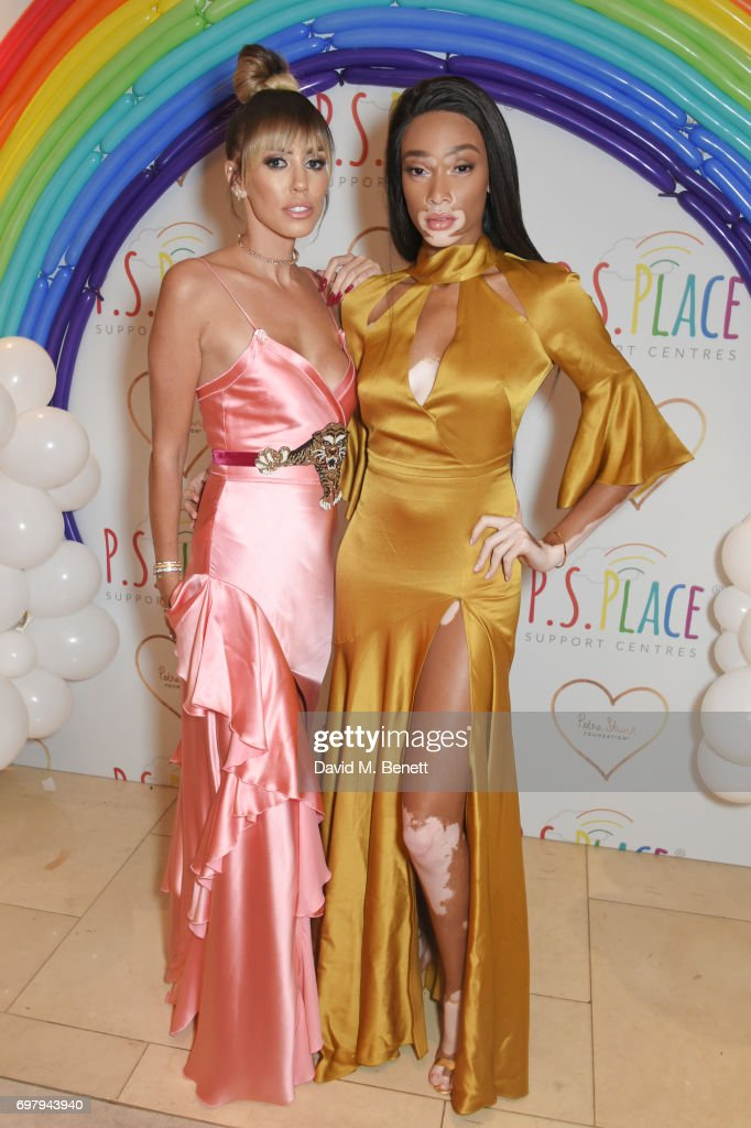 Petra Stunt (L) and Winnie Harlow attend the inaugural fundraising dinner for The Petra Stunt Foundation in aid of PS Place at the Corinthia Hotel London on June 19, 2017 in London, England.