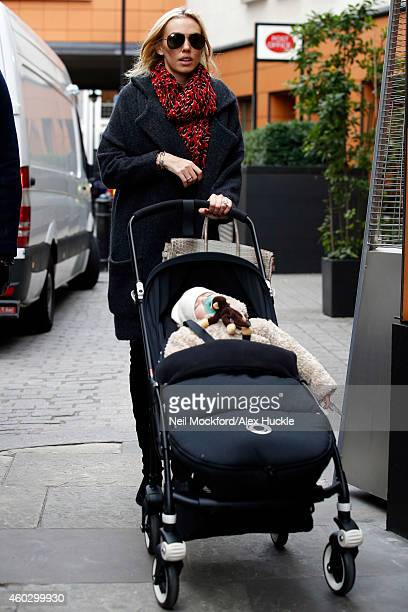 Petra Stunt seen arriving at a restaurant in Knightsbridge on December 11 2014 in London England