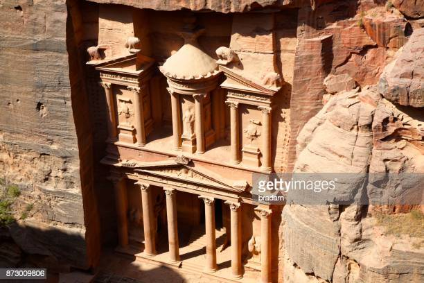Petra Treasury from above view