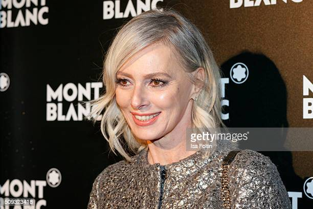 Petra van Bremen attends the Montblanc House Opening on February 09 2016 in Hamburg Germany