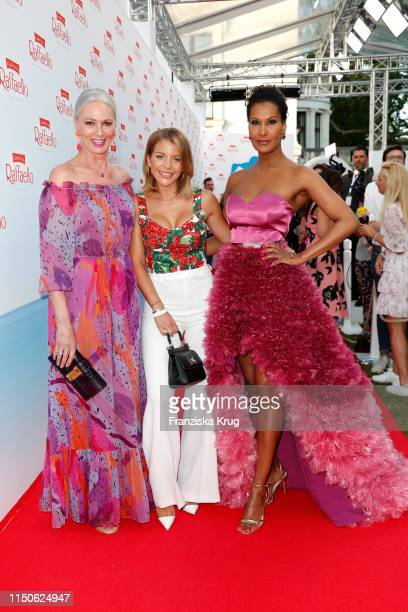Petra van Bremen Ina Aogo and Marie Amiere during the Raffaello Summer Day on June 18 2019 in Berlin Germany