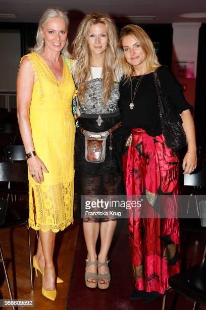 Petra van Bremen Mia Florentine Weiss and Marie von den Benken attend the Emotion Award at Curiohaus on June 28 2018 in Hamburg Germany