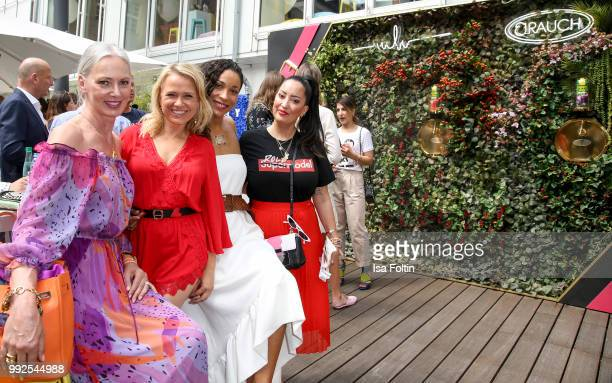 Petra van Bremen Nova Meierhenrich Annabelle Mandeng and Miyabi Kawai attend The Fashion Hub during the Berlin Fashion Week Spring/Summer 2019 at...