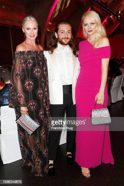 Petra van Bremen Riccardo Simonetti and Franziska Knuppe during the Dreamball 2018 at WECC Westhafen Event Convention Center on September 19 2018 in...