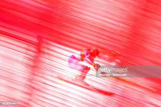 Petra Vlhova of Slovakia competes during the Alpine Team Event on day 15 of the PyeongChang 2018 Winter Olympic Games at Yongpyong Alpine Centre on...