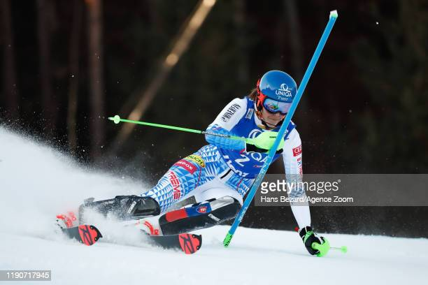 Petra Vlhova of Slovakia competes during the Audi FIS Alpine Ski World Cup Women's Slalom on December 29, 2019 in Lienz Austria.