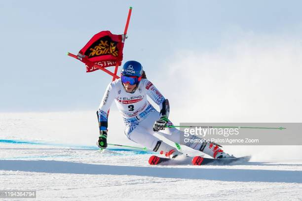 Petra Vlhova of Slovakia competes during the Audi FIS Alpine Ski World Cup Women's Giant Slalom on January 18 2020 in Sestriere Italy