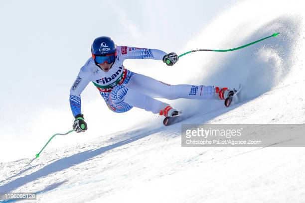 Petra Vlhova of Slovakia competes during the Audi FIS Alpine Ski World Cup Women's Downhill on January 25 2020 in Bansko Bulgaria