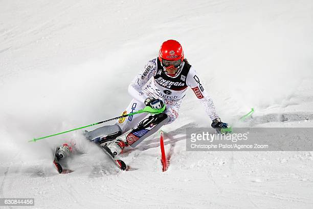 Petra Vlhova of Slovakia competes during the Audi FIS Alpine Ski World Cup Women's Slalom on January 03 2017 in Zagreb Croatia