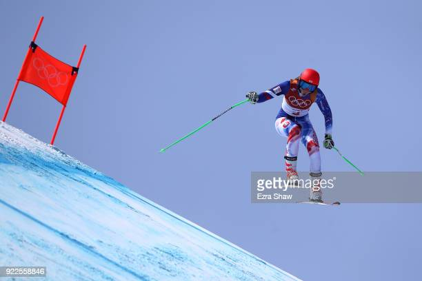 Petra Vlhova of Slovakia competes during the Ladies' Alpine Combined on day thirteen of the PyeongChang 2018 Winter Olympic Games at Yongpyong Alpine...