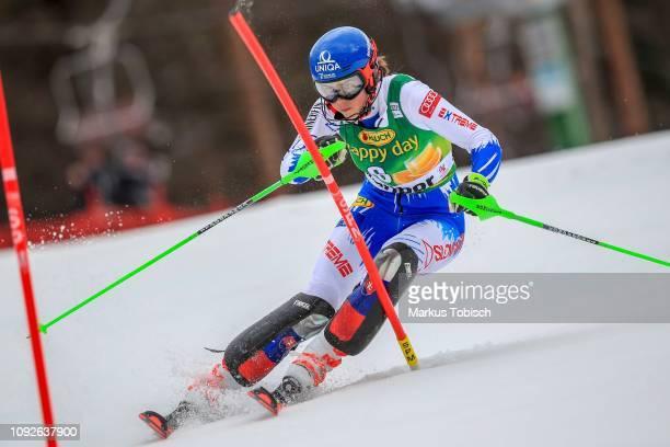 Petra Vlhova of Slovakia during the Audi FIS Alpine Ski World Cup Women's Slalom at Maribor on February 2 2019 in Maribor Slovenia
