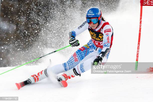 Petra Vlhova of Slovakia in action during the Audi FIS Alpine Ski World Cup Women's Parallel Slalom on January 19 2020 in Sestriere Italy