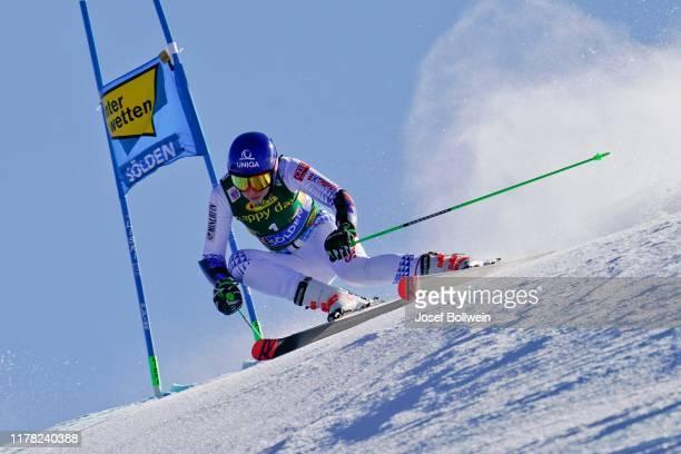 Petra Vlhova of Slovakia in the second run of the Alpine Ski World Cup - Women's Giant Slalom on October 26, 2019 in Soelden, Austria.