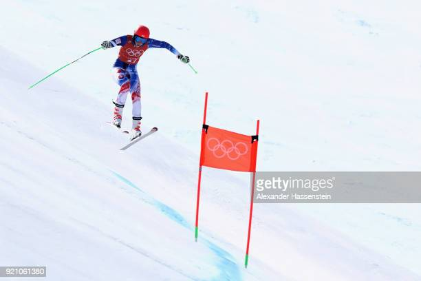 Petra Vlhova of Slovakia makes a run during the Ladies' Downhill Alpine Skiing training on day eleven of the PyeongChang 2018 Winter Olympic Games at...