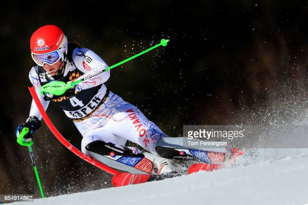 Petra Vlhova of Slovakia skis her second run of the Ladies' Slalom during the 2017 Audi FIS Ski World Cup Finals at Aspen Mountain on March 18 2017...