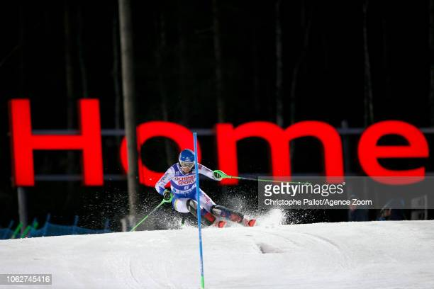 Petra Vlhova of Slovakia takes 2nd place during the Audi FIS Alpine Ski World Cup Women's Slalom on November 17 2018 in Levi Finland