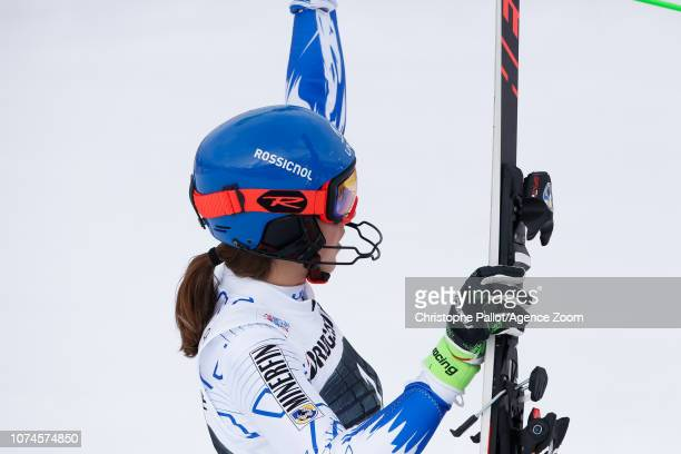 Petra Vlhova of Slovakia takes 2nd place during the Audi FIS Alpine Ski World Cup Women's Slalom on December 22 2018 in Courchevel France