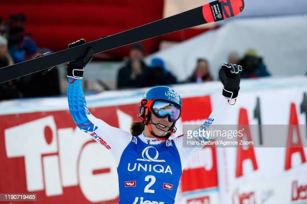 Petra Vlhova of Slovakia takes 2nd place during the Audi FIS Alpine Ski World Cup Women's Slalom on December 29, 2019 in Lienz Austria.