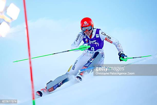 Petra Vlhova of Slovakia takes 3rd place during the Audi FIS Alpine Ski World Cup Women's Slalom on November 12 2016 in Levi Finland