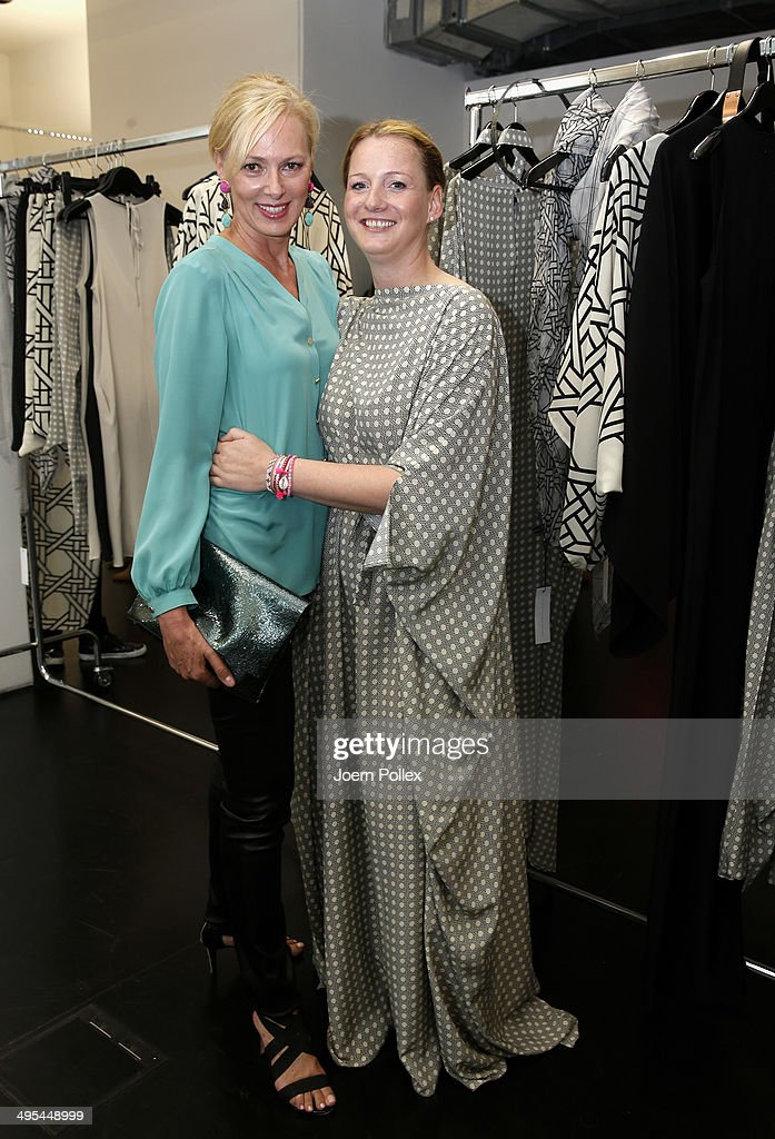 Petra von Bremen and Jenny Falckenberg pose during the 'Dawid Tomaszewki Pop-Up Store Opening' on June 3, 2014 in Hamburg, Germany.