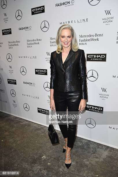 Petra von Bremen attends the Riani show during the MercedesBenz Fashion Week Berlin A/W 2017 at Kaufhaus Jandorf on January 17 2017 in Berlin Germany