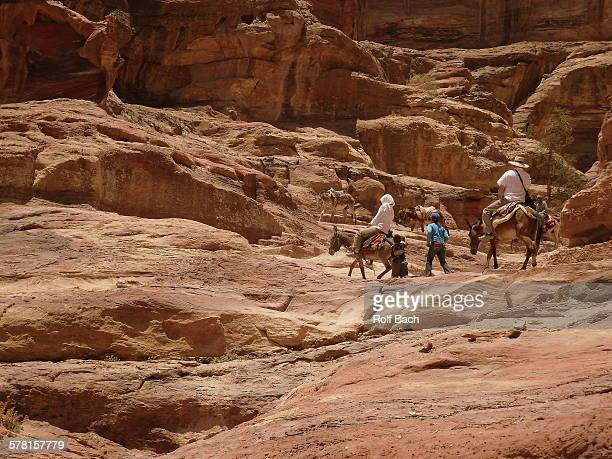 Petra, with the mules up to the monastery
