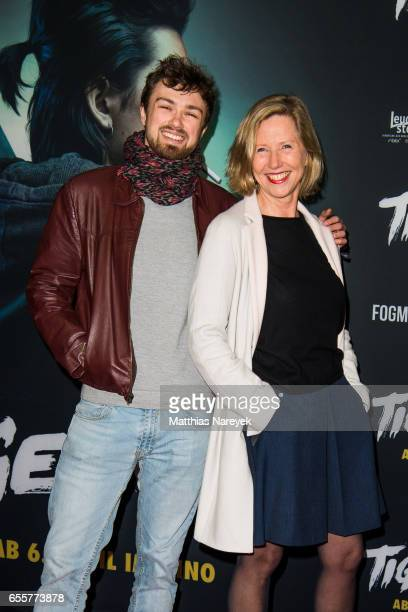 Petra Zieser and her son Leopold attend the premiere of the film 'Tiger Girl' at Zoo Palast on March 20 2017 in Berlin Germany