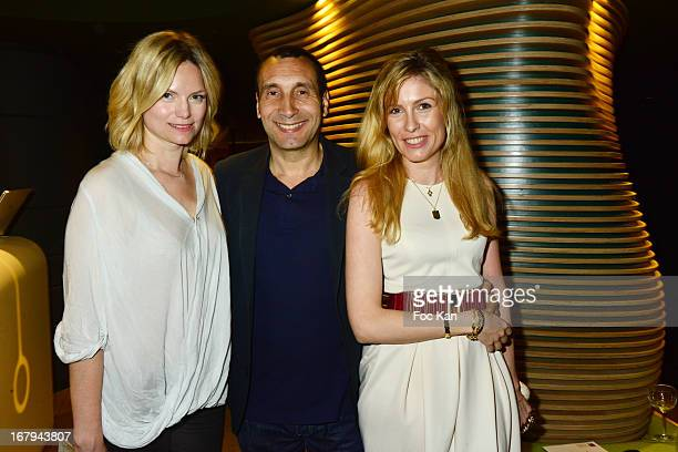 Petra Zinedine Soualem and AnneOlivia Berthet attend the Sam Bobino DJ Set Party At The Hotel O y on April 25 2013 in Paris France