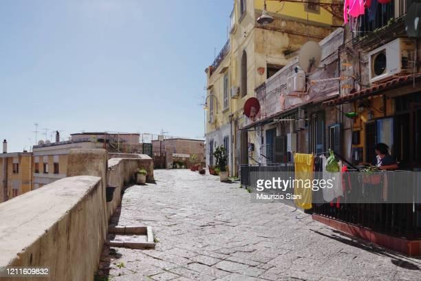 petraio's climb (naples, italy) - napoli stock pictures, royalty-free photos & images