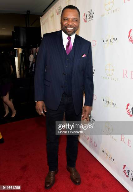 Petri Byrd attends Regard Magazine Spring 2018 Cover Unveiling Party presented by Sony Studios featuring the cast of 'The Oath' on Crackle at Riviera...