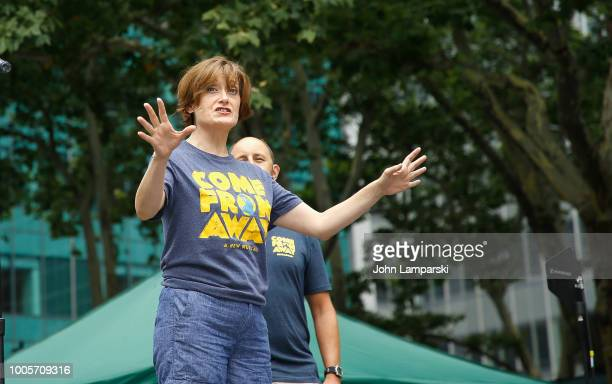 Petrina Bromley of 'Come From Away' performs during 1067 LITE FM Broadway in Bryant Park on July 26 2018 at Bryant Park on July 26 2018 in New York...